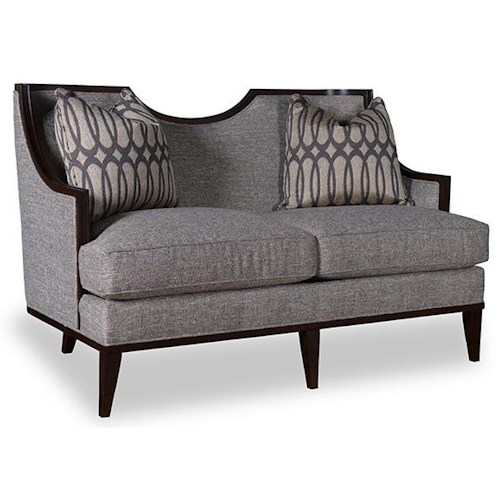 A.R.T. Furniture Inc Intrigue Harper - Mineral Transitional Loveseat with Exposed Wood Frame