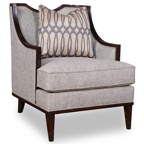 A.R.T. Furniture Inc Intrigue Harper - Mineral Transitional Chair with Exposed Wood Frame