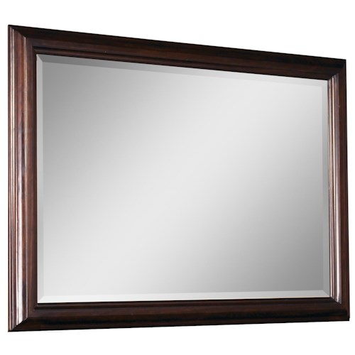 Belfort Signature Bolbrook Beveled Edge Landscape Mirror with Wood Frame