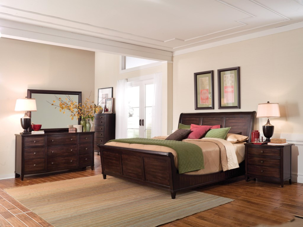 Shown with Drawer Dresser, 6-Drawer Chest, Sleigh Bed & Bachelor's Chest
