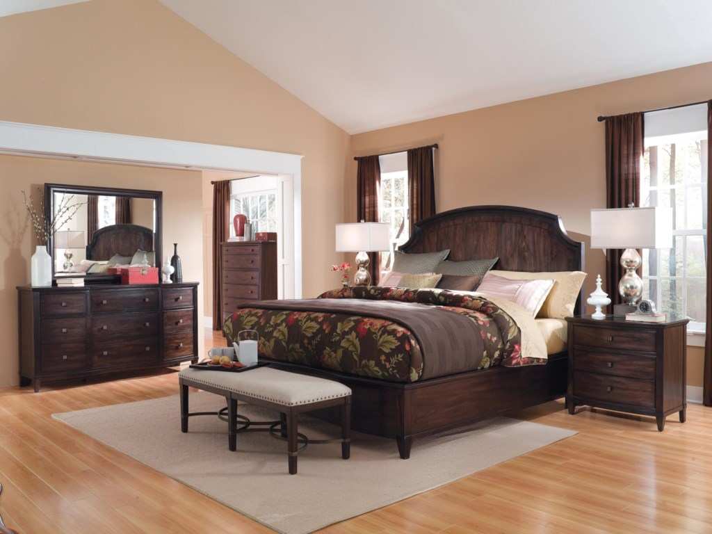 Shown with Panel Bed, Bench, Drawer Dresser, Landscape Mirror & 6-Drawer Chest