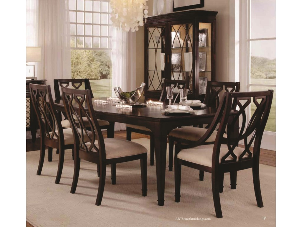 Shown with Wood Back Side Chairs, Display China & Sideboard