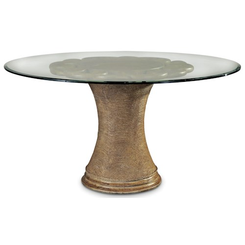 A.R.T. Furniture Inc Pavilion 60 Inch Round Dining Table with Glass Top and Pedestal Base