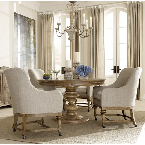 A.R.T. Furniture Inc Pavilion 5-Piece Round Table with Party Chairs