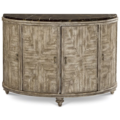 A.R.T. Furniture Inc Pavilion Demilune Accent Door Chest with Marble Top