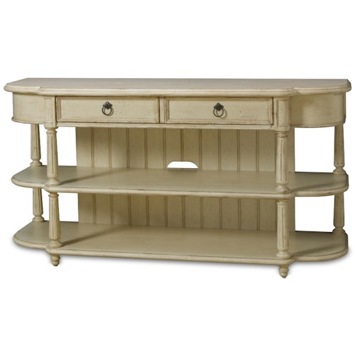 A.R.T. Furniture Inc Provenance Entertainment Console Table with Two Drawers and Two Shelves
