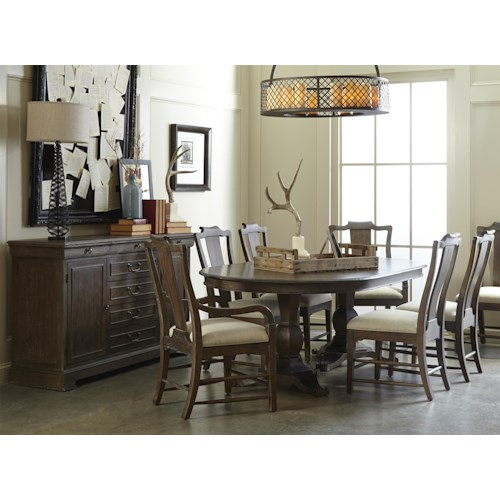 A.R.T. Furniture Inc Saint Germain Formal Dining Room Group