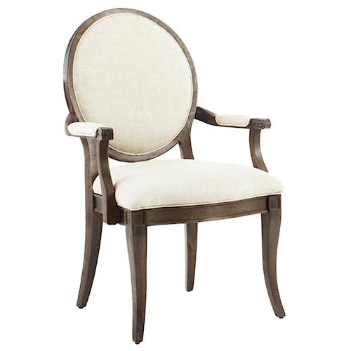 A.R.T. Furniture Inc Saint Germain Oval Back Arm Chair