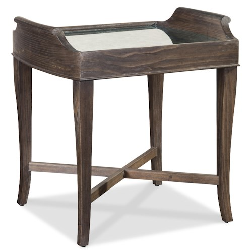 A.R.T. Furniture Inc Saint Germain Square Lamp Table with Mirror Top