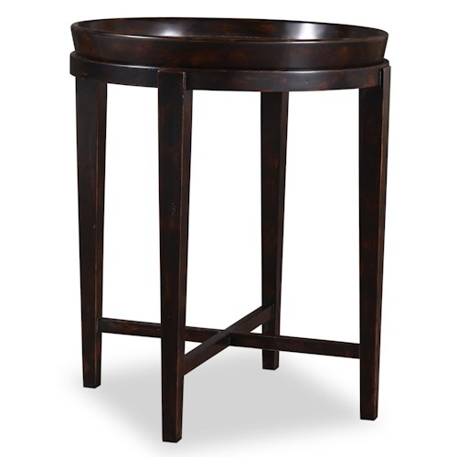 A.R.T. Furniture Inc The Foundry Circa Drink Table with Removable Serving Tray Top in Santos Rosewood Veneer