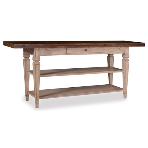 A.R.T. Furniture Inc The Foundry Two-Tone Cedar Flip-Top Table with 2 Shelves