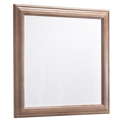 Belfort Signature Madera Contemporary Mirror w/ Beveled Frame