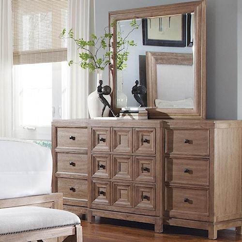 A.R.T. Furniture Inc Ventura Contemporary Dresser & Mirror Set