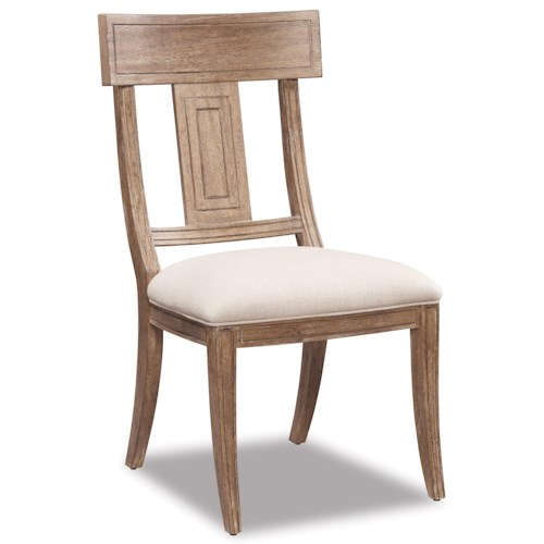 Belfort Signature Madera Contemporary Splat Back Side Dining Chair
