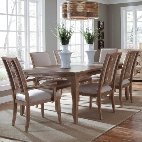 Belfort Signature Madera Contemporary Leg Dining Table & Chair Set