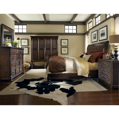 A.R.T. Furniture Inc Whiskey Oak King Bedroom Group
