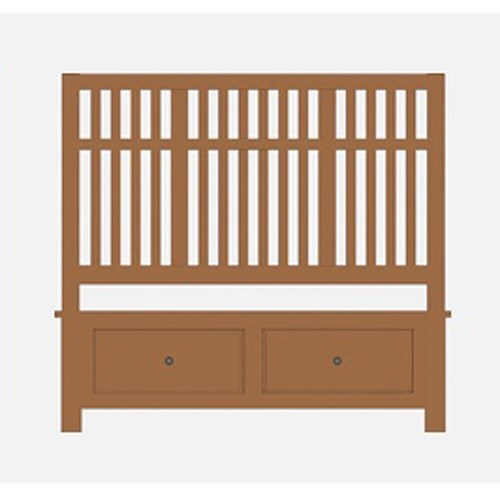 Artisan & Post Artisan Choices King Craftsman Slat Storage Bed