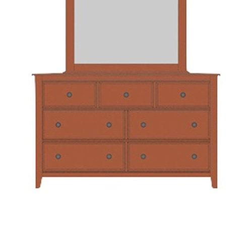 Artisan & Post Artisan Choices Solid Wood Loft Triple Dresser - 7 Drawers