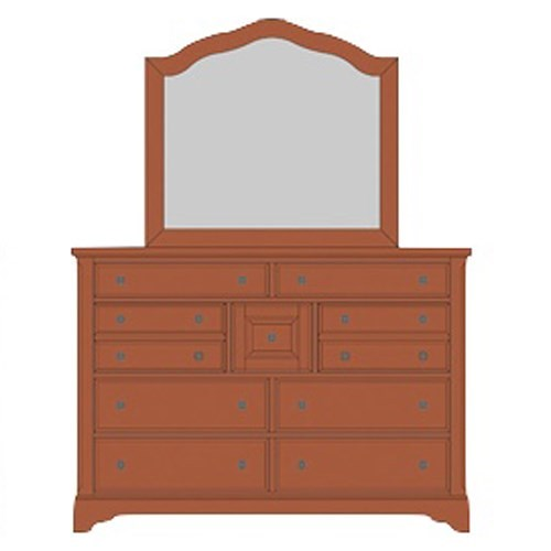 Artisan & Post Artisan Choices Solid Wood Villa Triple Dresser & Arched Mirror