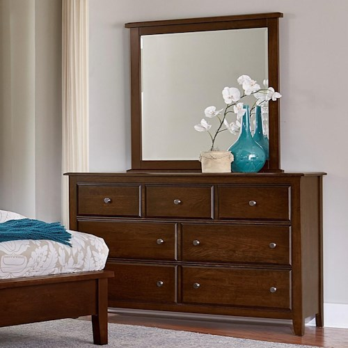 Artisan & Post Artisan Choices Solid Wood Loft Triple Dresser & Tall Landscape Mirror