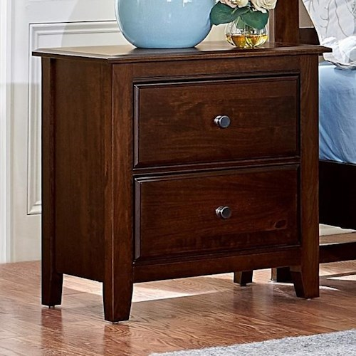 Artisan & Post by Vaughan Bassett Artisan Choices Solid Wood Loft Night Stand - 2 Drawers