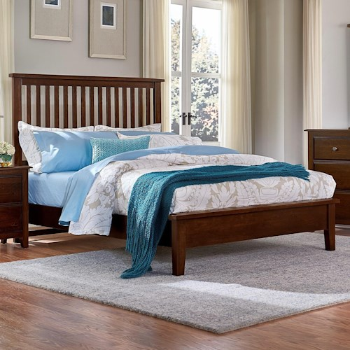Artisan & Post by Vaughan Bassett Artisan Choices King Slat Bed with Low Profile Footboard