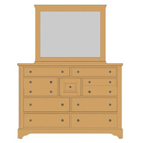 Artisan & Post Artisan Choices Solid Wood Villa Triple Dresser & Landscape Mirror