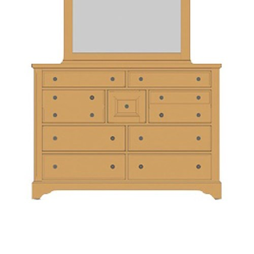 Artisan & Post Artisan Choices Solid Wood Villa Triple Dresser - 9 Drawers