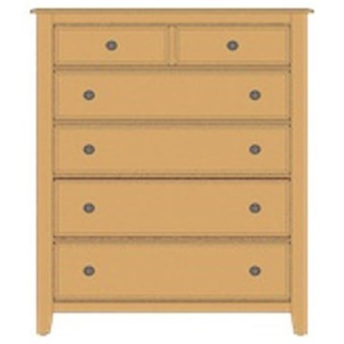 Artisan & Post Artisan Choices Solid Wood Loft Chest - 5 Drawers