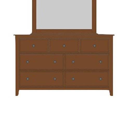 Artisan & Post Artisan Choices Solid Wood Loft Triple Dresser - 7 Drawers