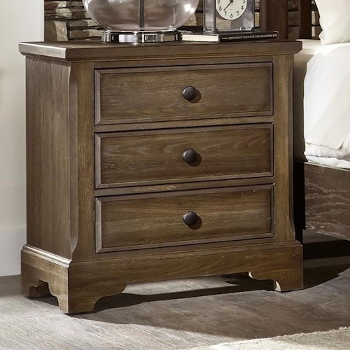 Artisan & Post by Vaughan Bassett Artisan Choices Solid Wood Villa Night Stand - 3 Drawers