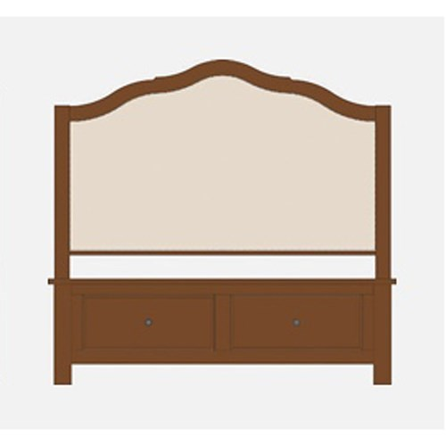 Artisan & Post by Vaughan Bassett Artisan Choices Queen Upholstered Storage Bed