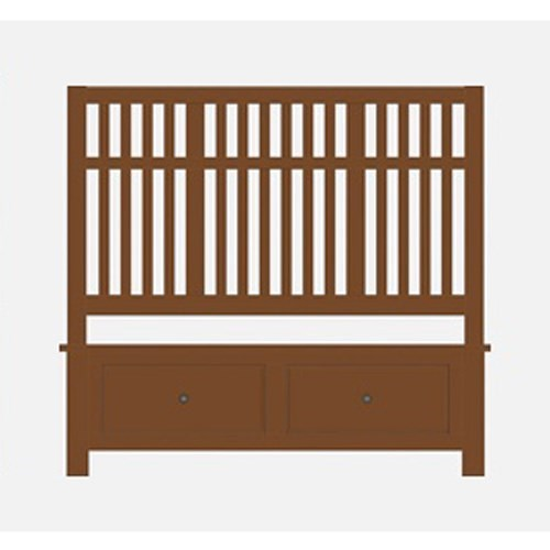 Artisan & Post by Vaughan Bassett Artisan Choices Queen Craftsman Slat Storage Bed