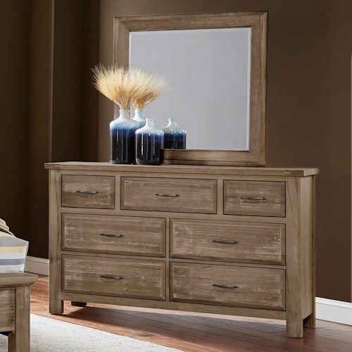 Artisan & Post by Vaughan Bassett Maple Road Solid Wood Dresser & Mirror