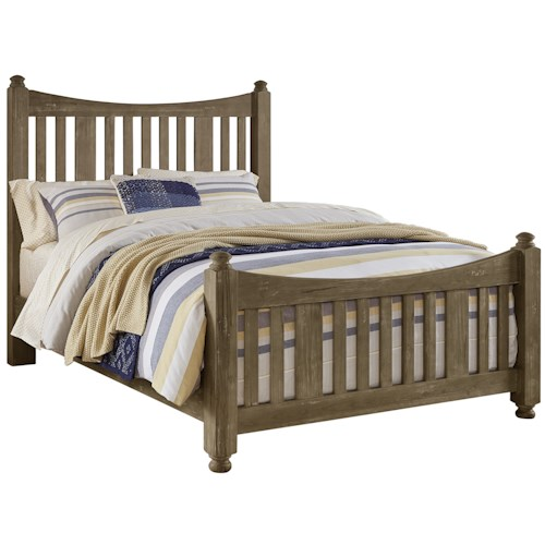 Artisan & Post Maple Road Solid Wood King Slat Poster Bed