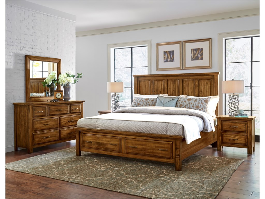 King Size Bed Shown. Queen Has 4 Headboard Panels.