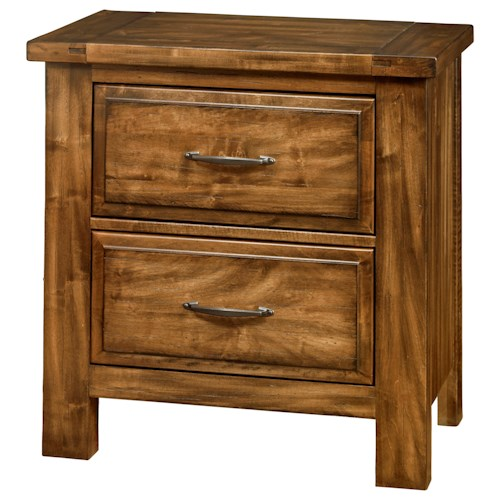 Artisan & Post by Vaughan Bassett Maple Road Solid Wood Maple Night Stand - 2 Drawers