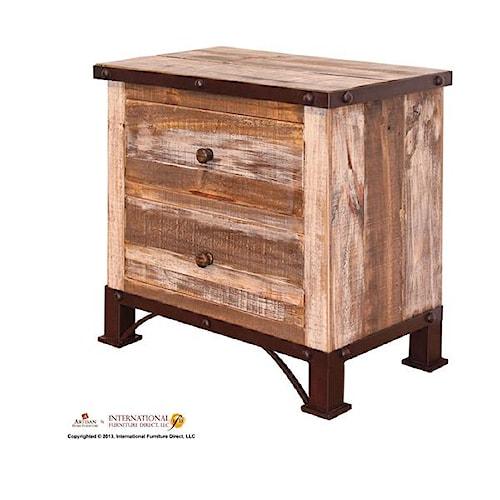 International Furniture Direct 970 Nighstand