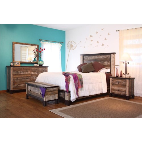 International Furniture Direct 970 Queen Bed