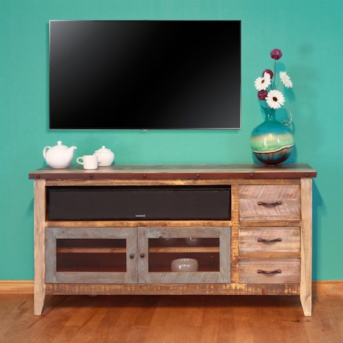International Furniture Direct 900 Antique Solid Pine 62