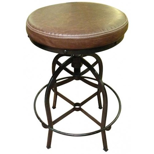 International Furniture Direct Bar Stools Swivel Bar Stool w/ Bonded Leather Seat