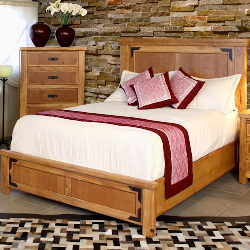 International Furniture Direct Lodge Queen Casual Low Profile Bed