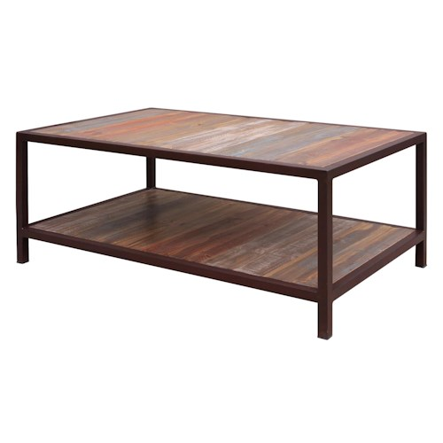 International Furniture Direct Occasional 961 Cocktail Table with 1 Shelf