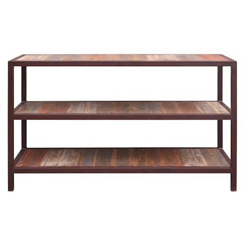 International Furniture Direct Occasional 961 Sofa Table with 2 Shelves