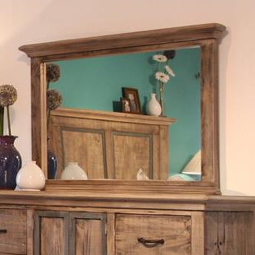 International Furniture Direct Praga  Dresser Mirror with Crown Molding