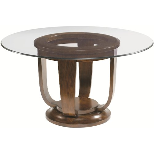 Artistica Paragon Round Glass Top Dining Table With Round Open