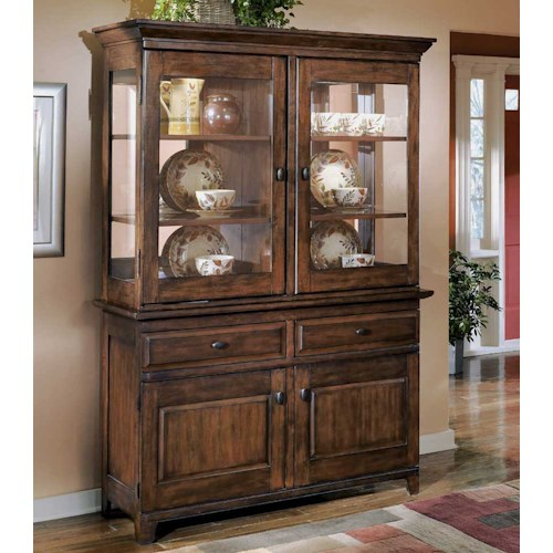 Signature Design by Ashley Larchmont Display China Cabinet and Buffet