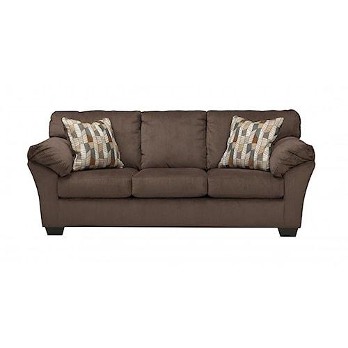 Ashley Furniture 18202 Aluria Chocolate Sofa Boulevard