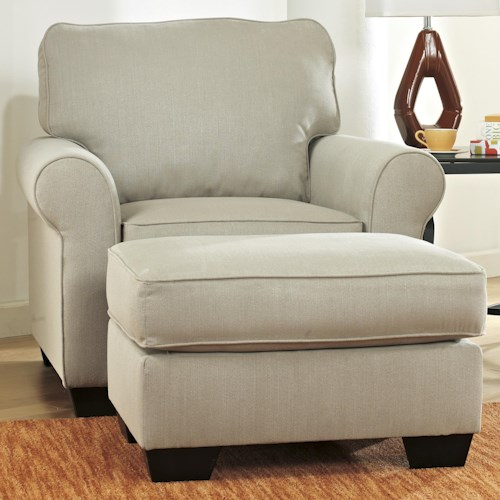 Ashley Furniture Caci Contemporary Chair & Ottoman