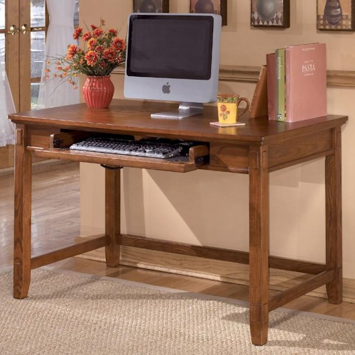 Ashley Furniture Cross Island Small Leg Desk with Keyboard Drawer